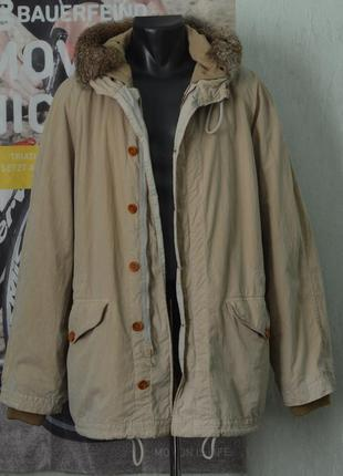 Парка c.p. company vintage rubber wool parka massimo osti archive