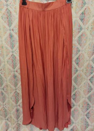 Идеальная макси юбка в пол с боковыми разрезами