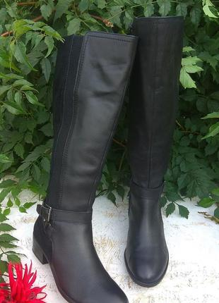 Шикарные кожаны деми сапоги marks & spenser р 39 на широк ногу