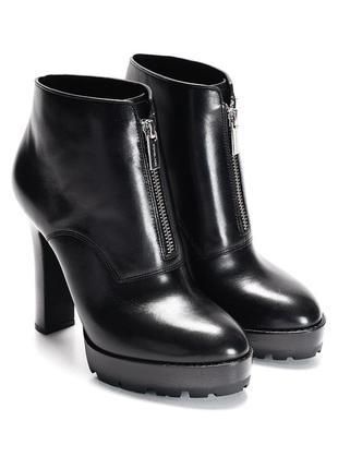 Ботинки черные на каблуке кожаные michael kors оригинал осенние осень кожа платформа
