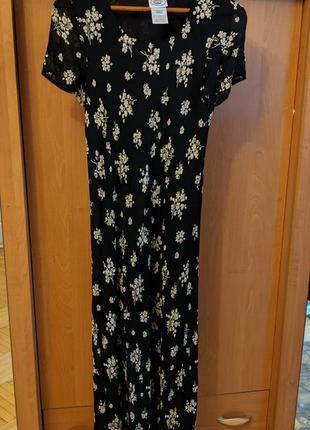 Крутое платье в цветочек миди laura ashley
