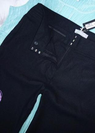 18 long шикарные брюки, 58%лен5 фото
