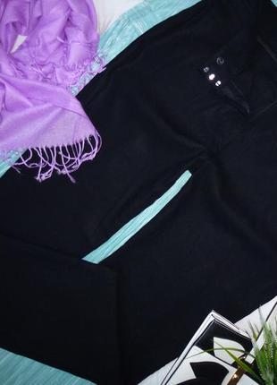 18 long шикарные брюки, 58%лен