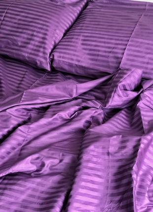 Двухспальное постельное белье из страйпсатина