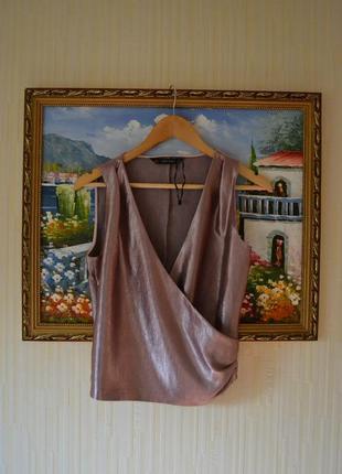 Блуза zara на запах3 фото