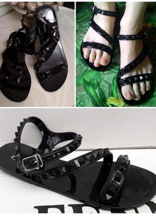 Босоножки сандалии резиновые силиконовые 23см