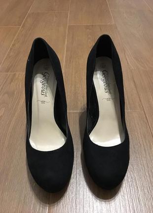 Замшевые туфли new look