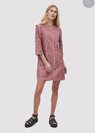 Гипюровое платье футляр скандинавский бренд