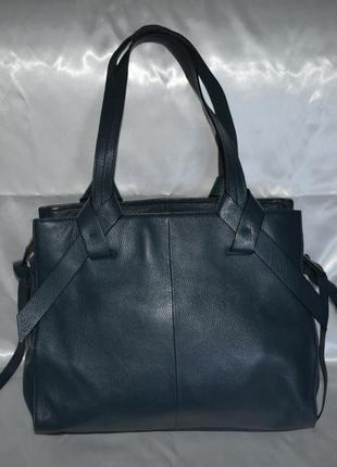 Синяя кожаная сумка marks&spencer