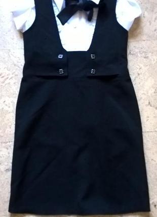Школьная форма сарафан черного цвета mevis