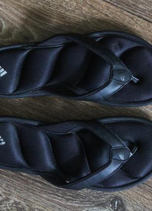 Шлёпанцы шлёпки вьетнамки со стельками подушками от adidas оригинал