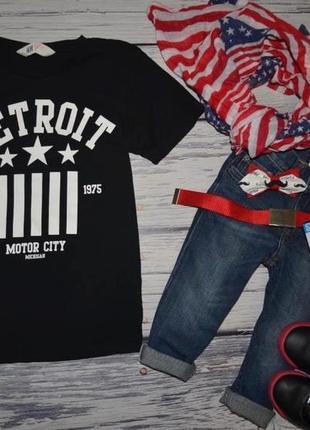 6 - 8 лет 128 см h&m фирменная стильная футболка с модным принтом