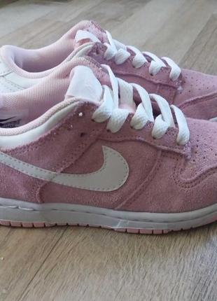 Nike кожаные кроссовки на девочку арт.3264