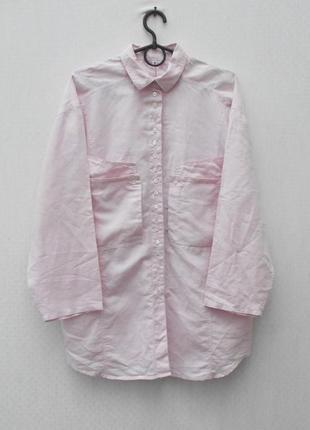 Натуральная свободная рубашка с воротником с длинным рукавом 🌿