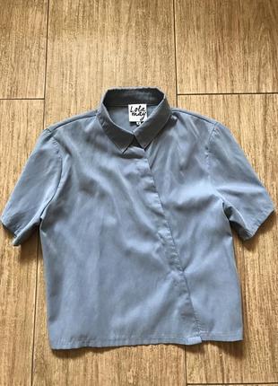 Стильная голубая рубашка
