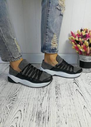 Новые натуральные замшевые кроссовки кроссы кросівки