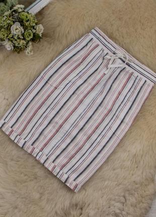 Супер стильная качественная льняная юбка от papaya рр 12 наш 46