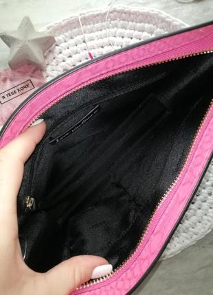 Victoria's secret яркий розовый клатч под питона8 фото