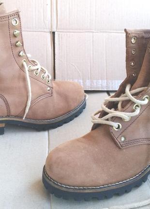 Шикарные полностью кожаные стильные ботинки roots германия