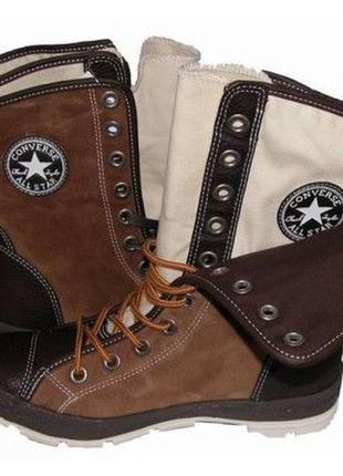 Стильные кожаные кеды полусапожки converse storm boot all star оригинал