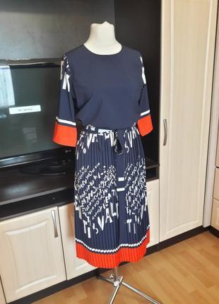Шикарное платье плиссе