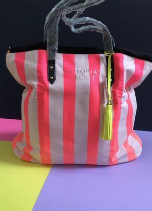Пляжная сумка сумочка шопер шоппер виктория сикрет оригинал