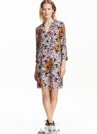 Прямое платье до колена из вискозы, с набивным, цветочным рисунком h&m