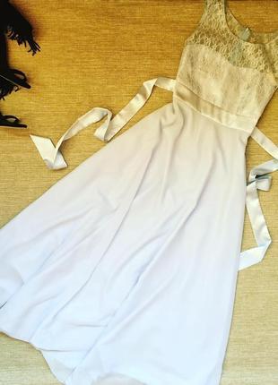 Нежное платье макси