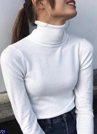 Гольф под горло свитер кашемир шерсть милано цвета