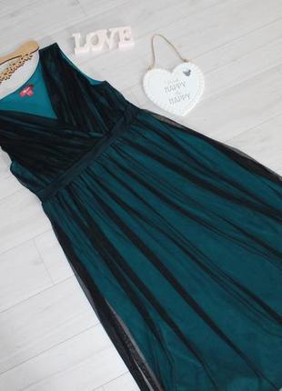 Трендовое платье с фатином разм l monsoon