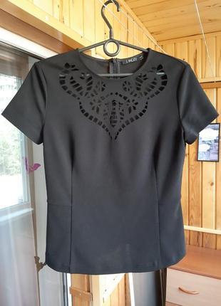 Футболка блуза блузка вырезы базовая м 38