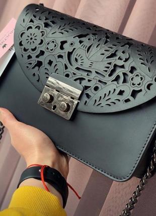 Стильна італійська ажурна сумочка