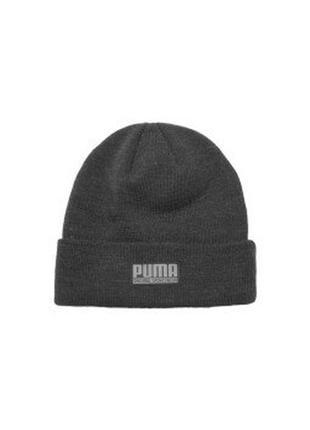 Теплые шапки puma с подворотом.