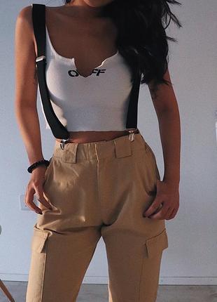 Нодовые брюки с подтяжками