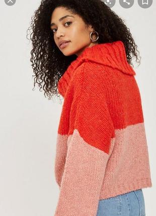 Гольф свитер оверсайз кофта с объёмными рукавами ангора topshop