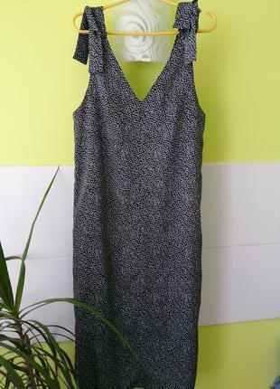 Миди платье с завязками h&m