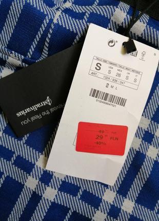 Новая юбка в клетку stradivarius4 фото