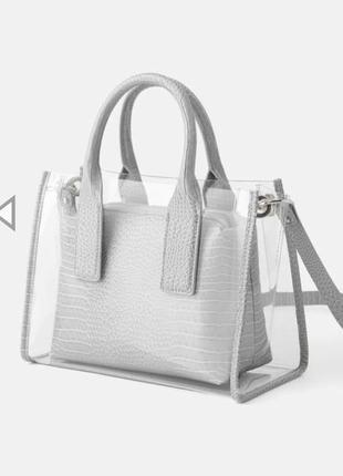 Прозрачная сумка с вкладышем zara оригинал