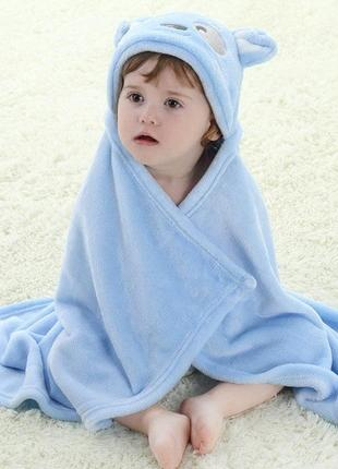Детский плед  полотенце  с уголком