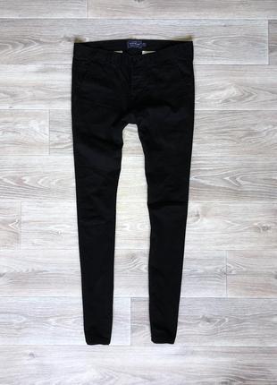 Штаны джинсы topman skinny (32/32) black