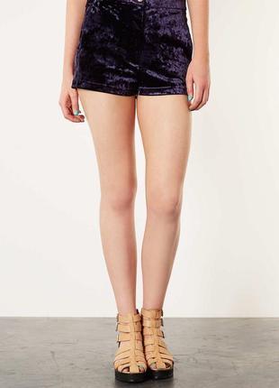 Очень красивые бархатные,велюровые шорты с переливом, topshop
