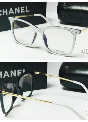 Очки оправа  белая для вставки линз любой сложности!