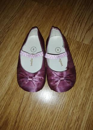 Атласные балетки туфельки на девочку туфли с бантиком