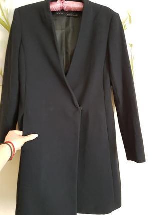 Базовый пиждак-пальто zara