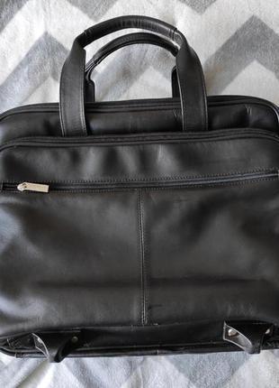 Кожаная сумка для ноутбука/ ручная кладь