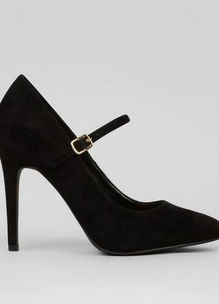 Новые с биркой туфли на шпильке wide fit классические под замш 41/42р 27см