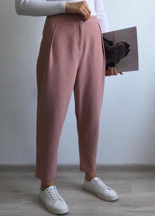 Пудровые брюки topshop