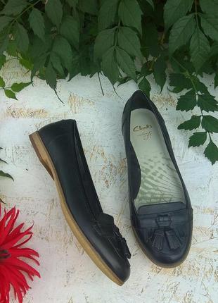 Кожаные туфли лоферы clarks р 37 сост новых