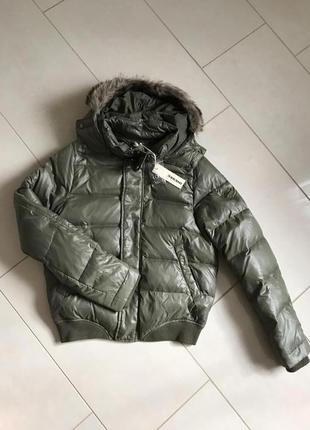 Пуховик зимний стильный модный дорогой бренд diesel размер m