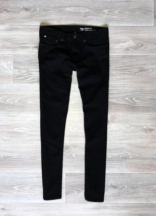 Штаны джинсы gap skinny fit (29/30) black